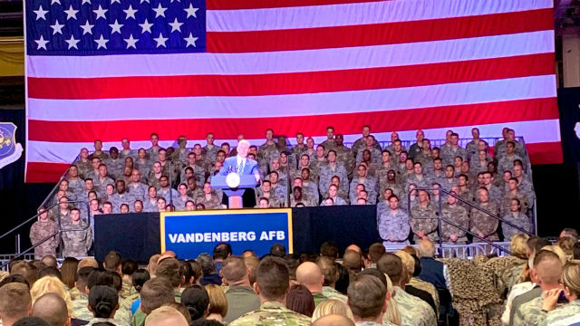 Vice President Mike Pence at Vandenberg Air Force Base