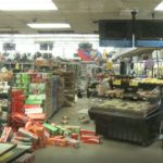 Damage at Albertsons in Ridgecrest