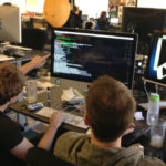 Software developers working on a project