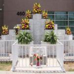 Memorial at site of McDonalds shooting