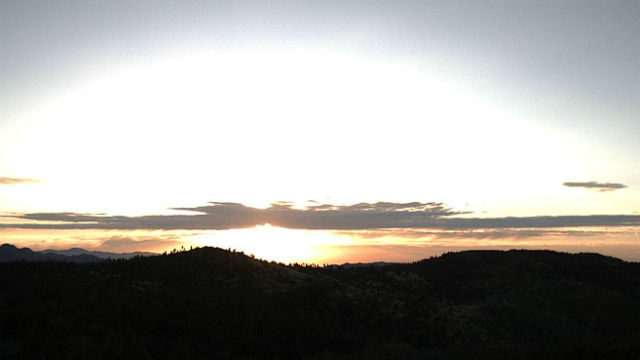Sunrise on Friday from Volcan Mountain in East County