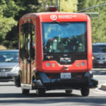 Testing an autonomous shuttle in traffic