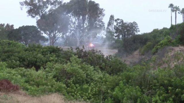 Smoke from brush fire in Bay Ho