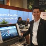 Brian Milton with express banking kiosk