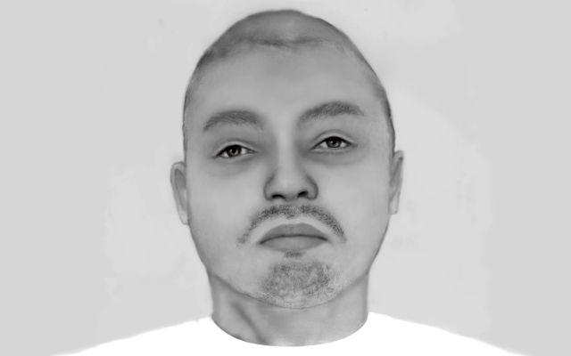 Forensic artist's sketch of the burn victim