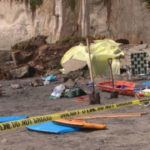 Collapsed bluff in Encinitas