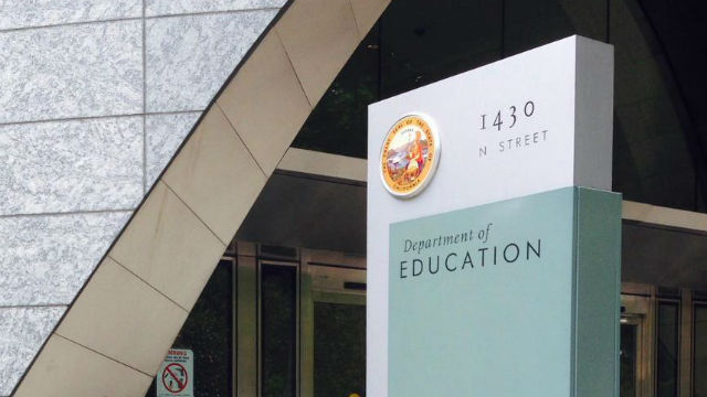 Entrance to the California Department of Education in Sacramento