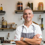 Giuseppe Ciuffa in his new restaurant