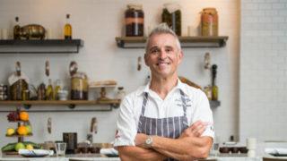 Giuseppe Ciuffa in his new restaurant