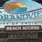 Entrance sign at Grandview Surf Beach