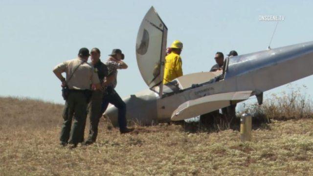 Crash-landed aircraft