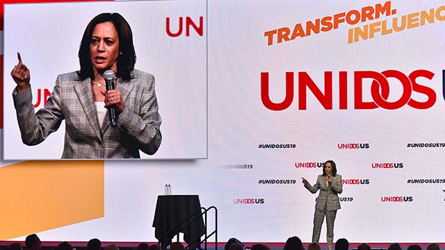 Former California Attorney General Sen. Kamala Harris addressed the UNIDOS US annual conference in San Diego. Photo by Chris Stone