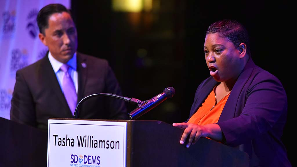 First-time candidate Tasha Williamson made passionate calls for things like an independent police review board.