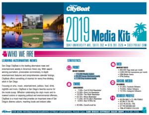 San Diego CityBeat 2019 Media Kit. (PDF)