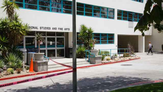 Some labs and offices will remain open in the College of Professional Studies and Fine Arts building at San Diego State University as renovations continue.