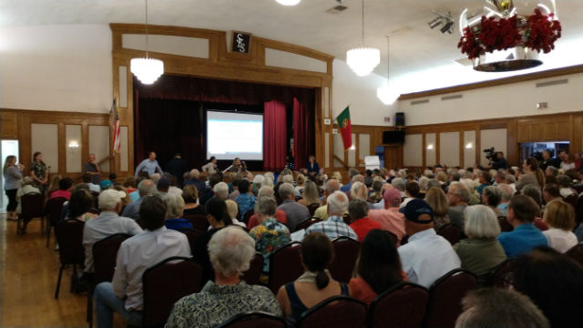 Crowd at Portuguese Hall