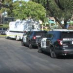 Sheriff's vehicles outside Poway apartment
