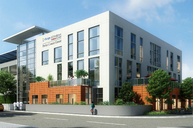 Rendering of Presbys Cancer Center