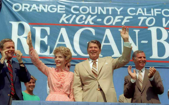 President Reagan kicks off his campaign in Orange County in 1984