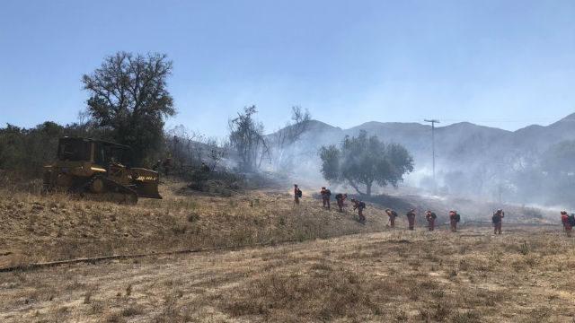 Cal Fire crews battle Santa Fire