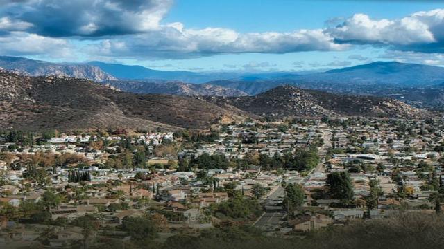 Aerial view of Santee