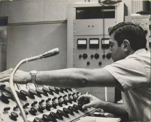 Stan Ross at the mixing board
