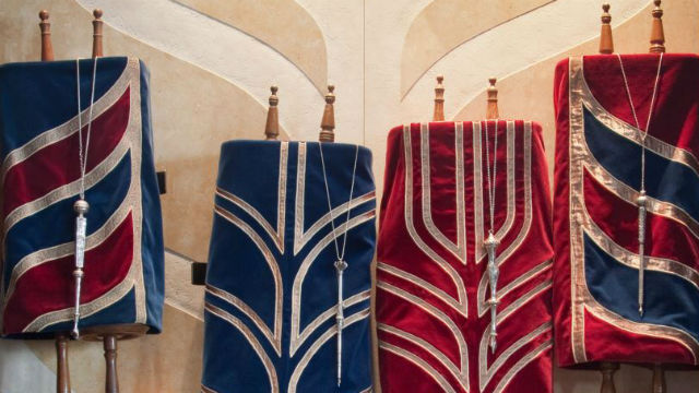 Toral scrolls at a San Diego synagogue