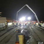 Concrete pour for trolley extension