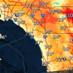Forecast high temperatures Tuesday