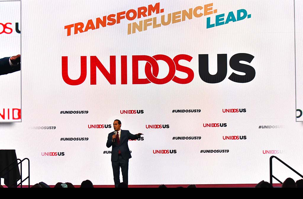 Former Secretary of Housing and Urban Development Julian Castro received an enthusiastic reception at the annual Unidos conference. Photo by Chris Stone