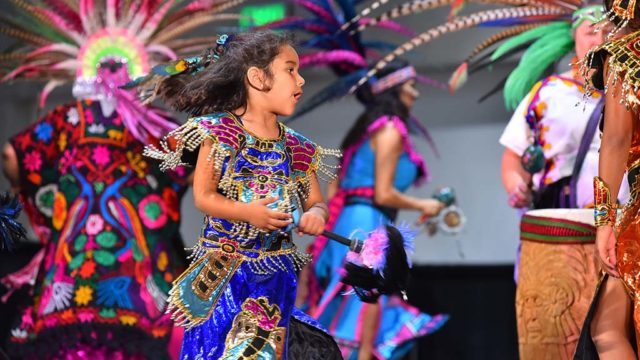 The Mexi'cayotl Indio Culture Center Aztec dancers entertained at the 2019 National Latino Expo.