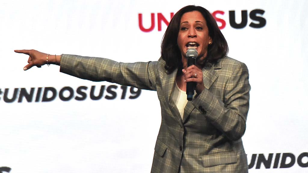 Sen. Kamala Harris spoke about housing issues in addition to other topics at the annual UnidosUS conference.