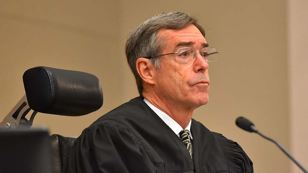 "Judge Ronald Frazier asked attorney David Kenney: ""Would the FPPC have the jurisdiction ... to enjoin Mr. Gloria from using the funds?"" Kenney said yes."