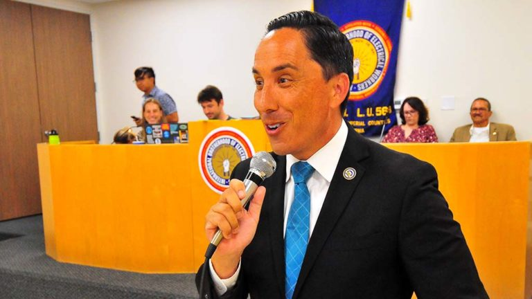 Assemblyman Todd Gloria expresses gratitude for mayor endorsement shortly after results were announced at 9:09 p.m.