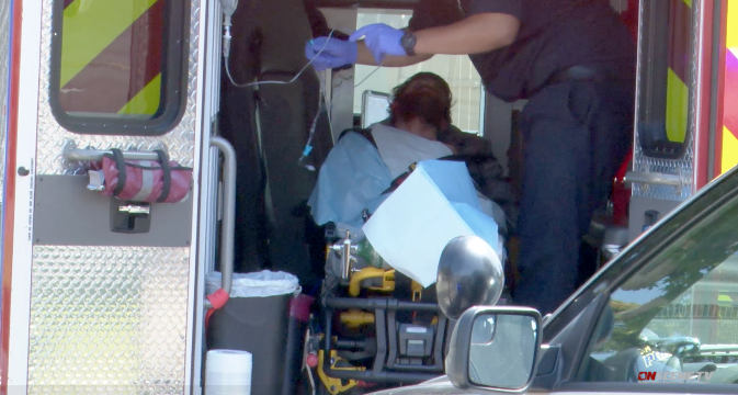 Bearded man is seen in ambulance sent to Tierrsaanta home where 2-year-old girl died in mom's car.