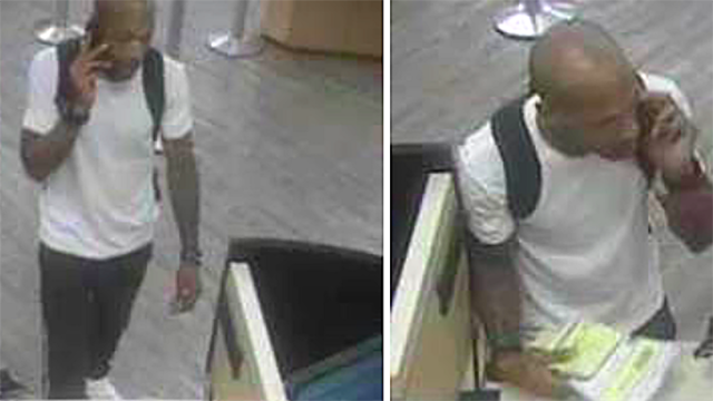 Surveillance photos from Aug. 23 Wells Fargo robbery.