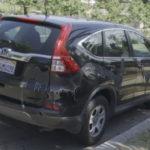 Car damaged by vandal