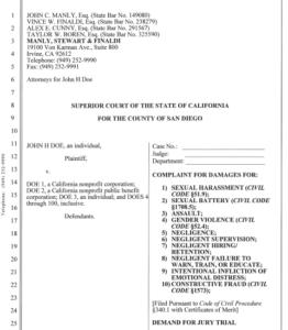 Complaint filed Sept. 10, 2019, against The Bishop's School. (PDF)