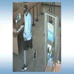 Surveillance photo of bank robbery suspect