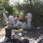 Clean-up efforts along the San Diego River