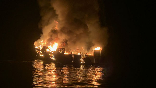 Dive boat Conception on fire