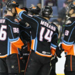 San Diego Gulls players after preseason victory