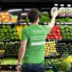 Instacart shopper in produce aisle