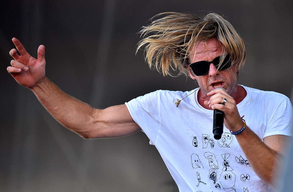 Jon Foreman of the San Diego-based band Switchfoot performs at the Sunset Cliffs stage at KAABOO Del Mar.