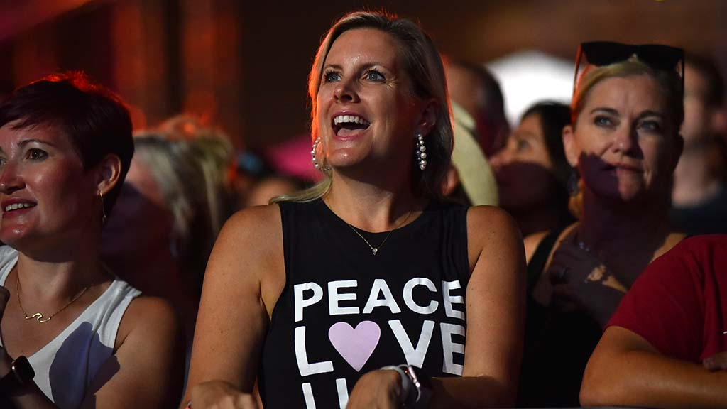 A fan of the Dave Matthews Band enjoys the concert at KAABOO Del Mar.