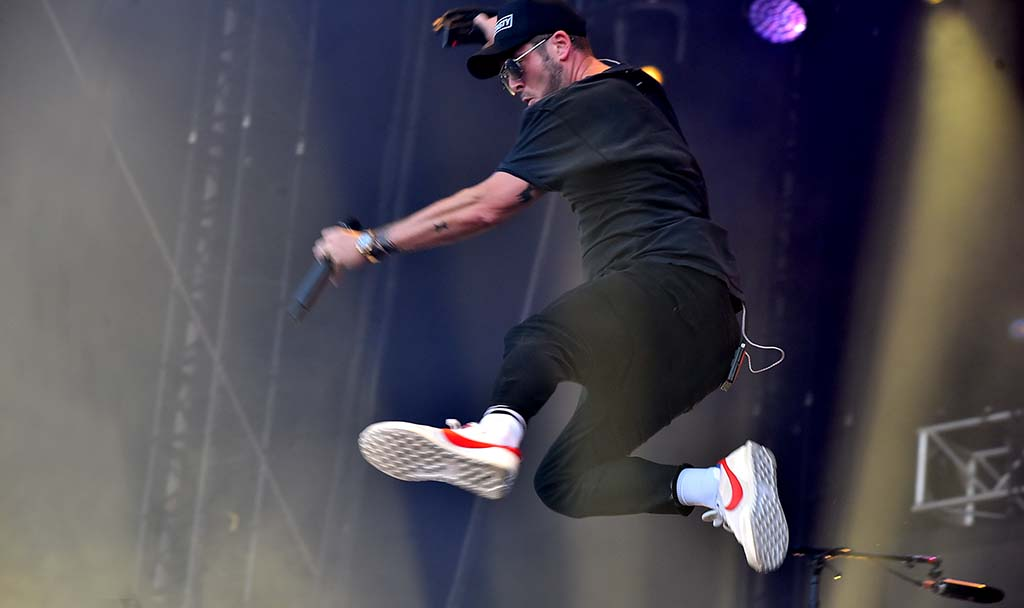 Ryan Tedder of the band OneRepublic performs at the Sunset Cliffs stage at KAABOO Del Mar