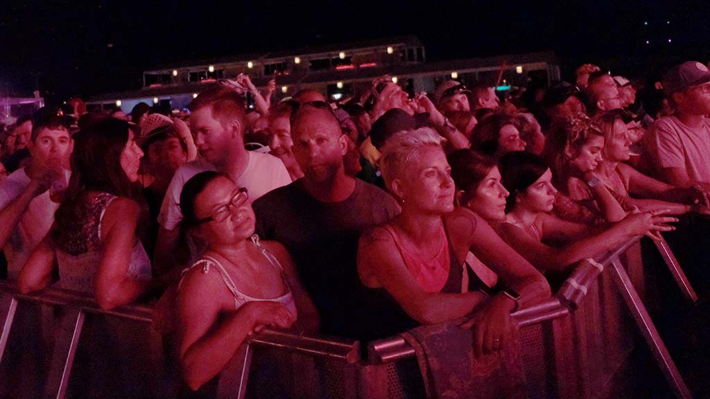 Fans watch Dave Matthews perform at the Sunset Cliffs stage at KAABOO Del Mar.