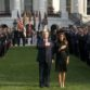 President and First Lady lead moment of silence