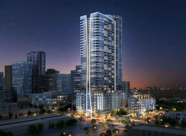 Rendering of Park and Broadway project