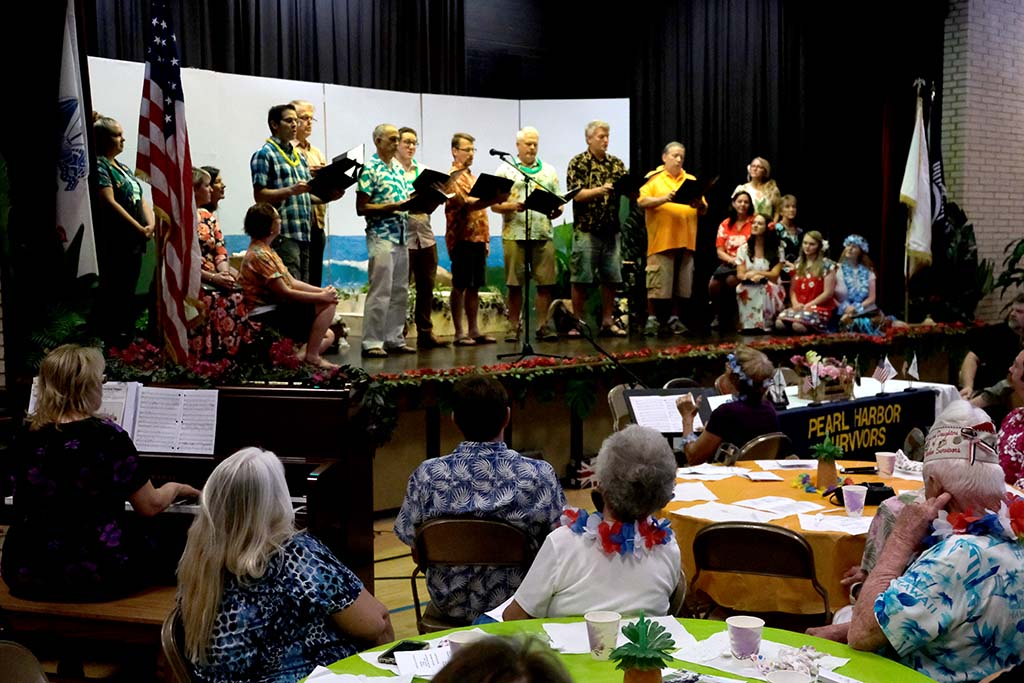 Association and church members entertained the group before the final meeting.